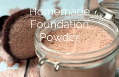 HOMEMADE FOUNDATION POWDER. Made with ingredients safe and gentile enough to eat. Good coverage. Great DIY foundation for sensitive skin.