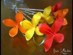 Origami: Flor de quatro pétalas - Flower four petals - YouTube
