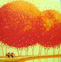(Vietnam) by Phan Thu Trang (1979~  ). Oil on canvas.