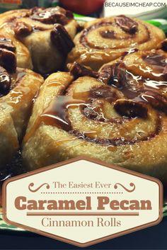 Caramel Pecan Cinnamon Rolls by BecauseImCheapcom