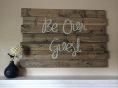 Wooden signs. silhouette cameo. vinyl letters. DIY wood sign. guest room decor. guest room quote. Popular with the Poplins
