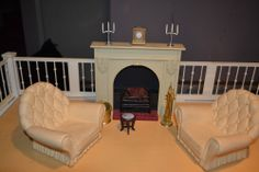 Sindy Living Room Complete Fireplace set w/ accessories ~ HAVE