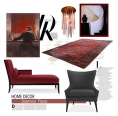 """""""Ruby Red"""" by youaresofashion ❤ liked on Polyvore featuring interior, interiors, interior design, home, home decor, interior decorating, Canopy Designs and Ralph Lauren Collection"""