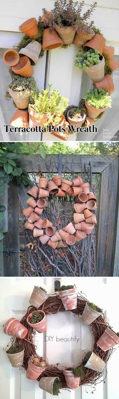 Terracotta Pots Wreath.