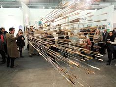 Glenn Kaino installation at the 2015 Armory Show at the Honor Fraser Gallery booth