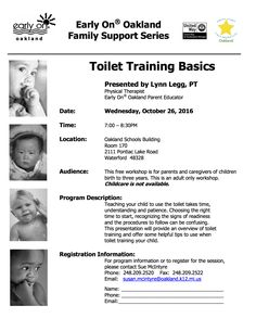 Toilet Training Basics comes to Waterford in October!