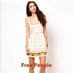 NEW ROMANTICS FREE PEOPLE SUNDRESS Free people Weather Van Ikat sleeveless sundress, WORN ONCE . Zips in the back, 100% cotton. Free People Dresses Mini