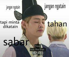 Memes Kpop Bts Indonesia 64 New Ideas Memes Funny Faces, Funny Kpop Memes, Jungkook Meme, Bts Suga, Super Memes, Mean Humor, Bts Face, Drama Memes, Cartoon Jokes