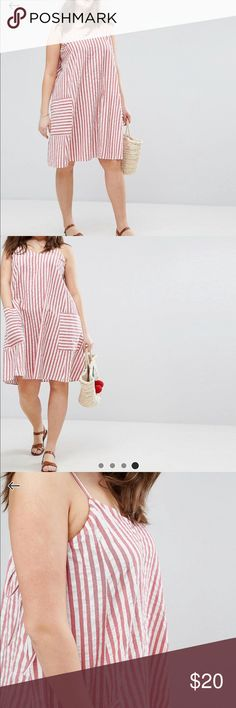 Stripe Swung Sundress in Seersucker Like new | The dress runs quite big, about two sizes bigger | I'll accept offers ASOS Curve Dresses Midi