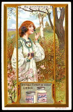 Liebig S907 - Art Nouveau, In Springtime 1 by cigcardpix, via Flickr