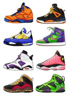 Une collection de Jordan aux couleurs des personnages de Dragon Ball Z