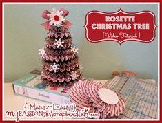 {Video Tutorial} Rosette Christmas Trees using CTMH Artiste Cricut Cartridge