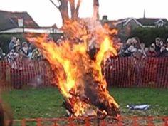 Whittlesey Straw Bear Burning - January 2010