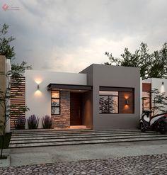 Minimal House Design, Modern Small House Design, Modern Exterior House Designs, Modern House Facades, Bungalow House Design, Dream House Exterior, Small Modern Houses, House Outside Design, House Front Design