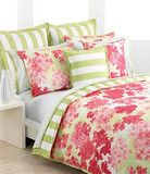 Tommy Hilfiger Bedding, Cape Cod Green and Pink Floral King Comforter Set