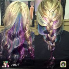 dark toned color underneath the hair. Love the blues and purples!