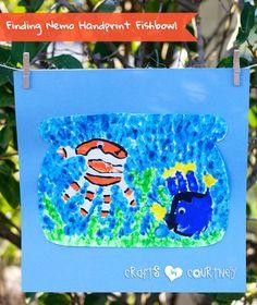 Make a Finding Nemo Inspired Handprint Fish Bowl