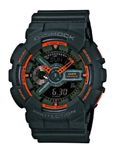 Casio Men's Watch XL Analogue-Digital Display and G-Shock Resin GA – 110TS – 1A4ER