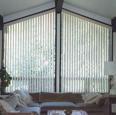 angle top vertical blinds