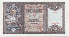50 Korún Slovenských 1940 (Madln in Nationaltracht)