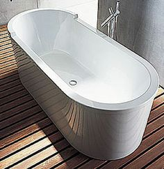 Duravit Starck Freestanding Paneled Oval Bathtub 70 Inch (700010)