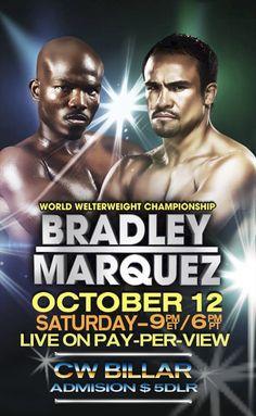 afiche de la pelea... con fotos bien saturadas e ilustradas.
