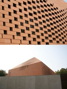 Pixelated brick skin. Pope John Paul II Chapel / Randic Turato