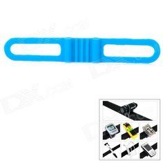 Lichao 8112702 Durable Elastic Silicone Rubber Fastener Strap Band for Bike - Blue Price: $1.80