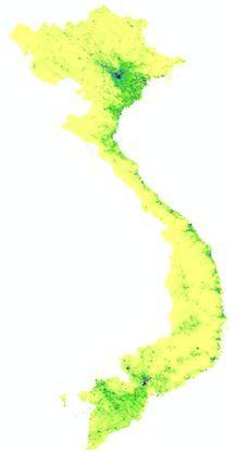 high resolution population data for asian countries / vietnam