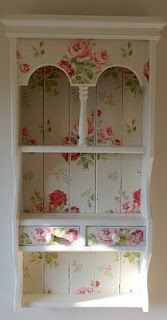 gorgeous upcycled Cath Kidston pine unit ~~~~ these are still easy to find at thrift stores ~~~ imagine possibilities with your own paint and wallpaper?