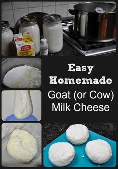 Easy Homemade Goat (or Cow) Milk Cheese Cheese The Easiest Homemade Cheese via Better Hens and Gardens Goat Milk Recipes, Goat Cheese Recipes, Easy Cheese, How To Make Cheese, Making Goat Cheese, Making Cheese At Home, Fromage Vegan, Survival Food, Homestead Survival