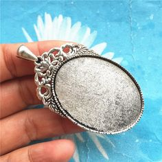 9 Pcs Pendant Blanks USA Shipper Antique Silver  Oval Shape 30x40mm Bezel Cup Cameo Setting Pendant Tray by JewelrySupplyCalif on Etsy