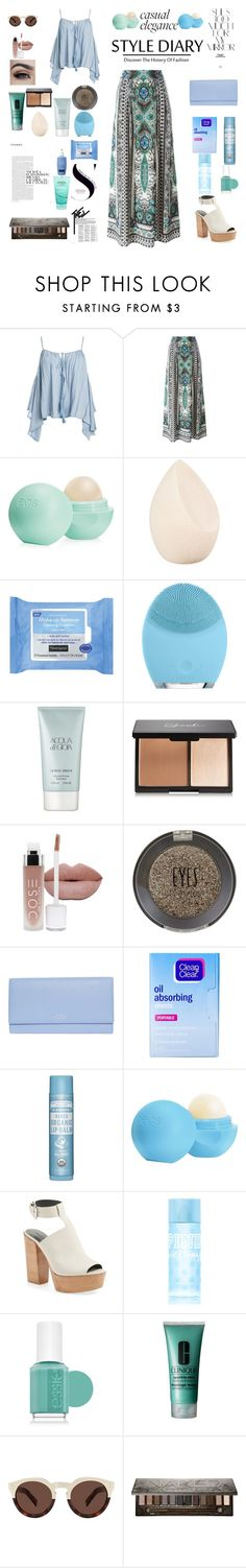 """""""Bohemian Day"""" by mickey733 on Polyvore featuring Sans Souci, Etro, Eos, Christian Dior, Neutrogena, FOREO, Giorgio Armani, Topshop, Smythson and Clean & Clear"""