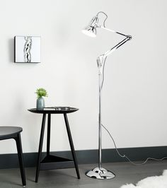 The Original 1227™ floor lamp blends the classic Anglepoise® shade silhouette and constant spring articulation with an attractive, braided, coloured cable. Consider if you are looking for a highly adjustable reading lamp and stylish, contemporary accessory. Please note that the Alpine White and Bright Chrome lamps have Chrome arms.