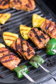 Grilled Salmon Kebabs | http://mayakitchenette.com/grilled-salmon-kebabs