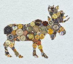 Button art. Moose