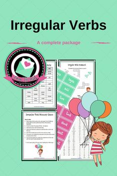 This irregular verbs package includes: an irregular verbs list (present/infinitive, past, past participle), a crossword activity, complete the table activity and a group game printable. Speech Language Therapy, Speech And Language, Language Arts, Speech Therapy, Teaching Grammar, Teaching Aids, Teaching English, Elementary Library, Elementary Education