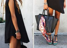 Celine bag and Loeffler Randall platforms.