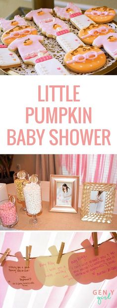 Little Pumpkin Baby Shower For Our Baby Girl - gen y girl Sharing all the details of our fall baby shower celebrating our baby girl. Loved every second of our little pumpkin baby shower. Idee Baby Shower, Baby Girl Shower Themes, Baby Shower Brunch, Girl Baby Shower Decorations, Baby Shower Fall Theme, Second Baby Showers, October Baby Showers, Fall Baby Showers, Little Pumpkin Shower