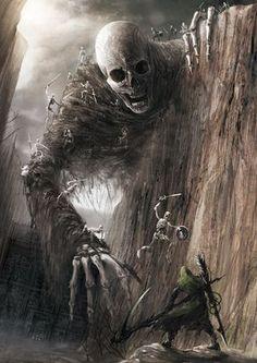 Skulls: Giant #skeleton, fantasy/horror concept by Eiich Matsuba.