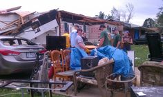 IAFF 2nd District fire fighters assist Joplin Local 2618 members whose homes were damaged or lost in the tornado.