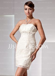 Cocktail Dresses - $139.99 - Sheath Scalloped Neck Short/Mini Satin Lace Cocktail Dress With Beading (016014423) http://jjshouse.com/Sheath-Scalloped-Neck-Short-Mini-Satin-Lace-Cocktail-Dress-With-Beading-016014423-g14423
