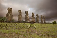 """""""Lost in Wonder"""" is a new project by New York-based artist Trina Merry,  Easter Island"""