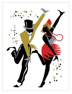Silhouette Swing Dancing Couple By Dance Clipart Free