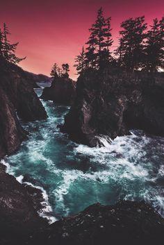 "souhailbog:  "" Samuel H Boardman State Park By  Jude Allen | More """