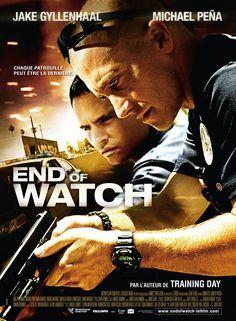 END OF WATCH de David AYER - 2012 : Chaque jour, Brian Taylor et Mike Zavala, jeunes officiers de police, patrouillent dans les rues les plus dangereuses de Los Angeles. À travers les images filmées sur le vif, on découvre leur quotidien sous un angle jamais vu. Du danger partagé qui forge la fraternité à la peur et aux montées d'adrénaline, c'est une fascinante plongée au cœur de leur vie et d'un quartier, une histoire puissante sur l'amitié, la famille, l'honneur et le courage.