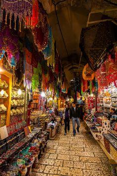 Arab Souk, Old City, Jerusalem, Palestine.