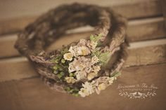 Newborn Halo. Newborn Garland. Photography Props. Newborn Props. Organic Baby Props. Brown Natural Floral Halo. For more visit www.princessandthepeaprops.com.au