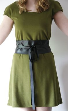Obi Wrap Belt - find faux leather to make it vegan