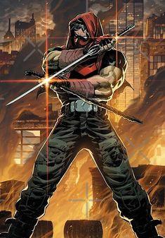 Red Hood Comic, Batman Red Hood, Red Hood Jason Todd, Jason Todd Batman, Batman Comic Art, Gotham Batman, Batman Robin, Marvel Art, Superman